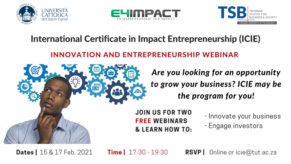 ICIE Innovation & Entrepreneurship Webinars